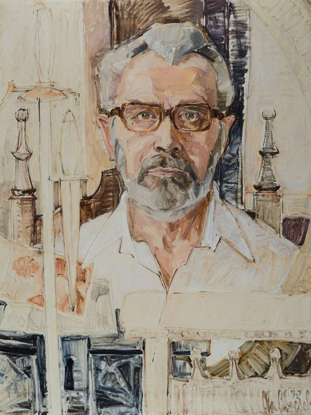 Christel Abresch, 1931 Sulzbach-2011 Neustadt,portrait of