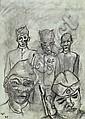 Voigt, Bruno, 1912-1988, Bleistiftzeichnung,, Bruno Voigt, Click for value