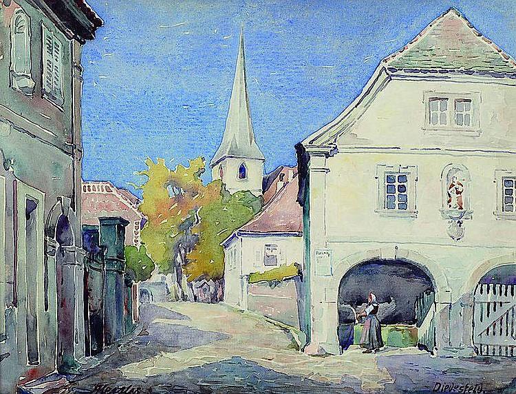 Kessler, Adolf, 1890 Godramstein-1947, Ansicht aus