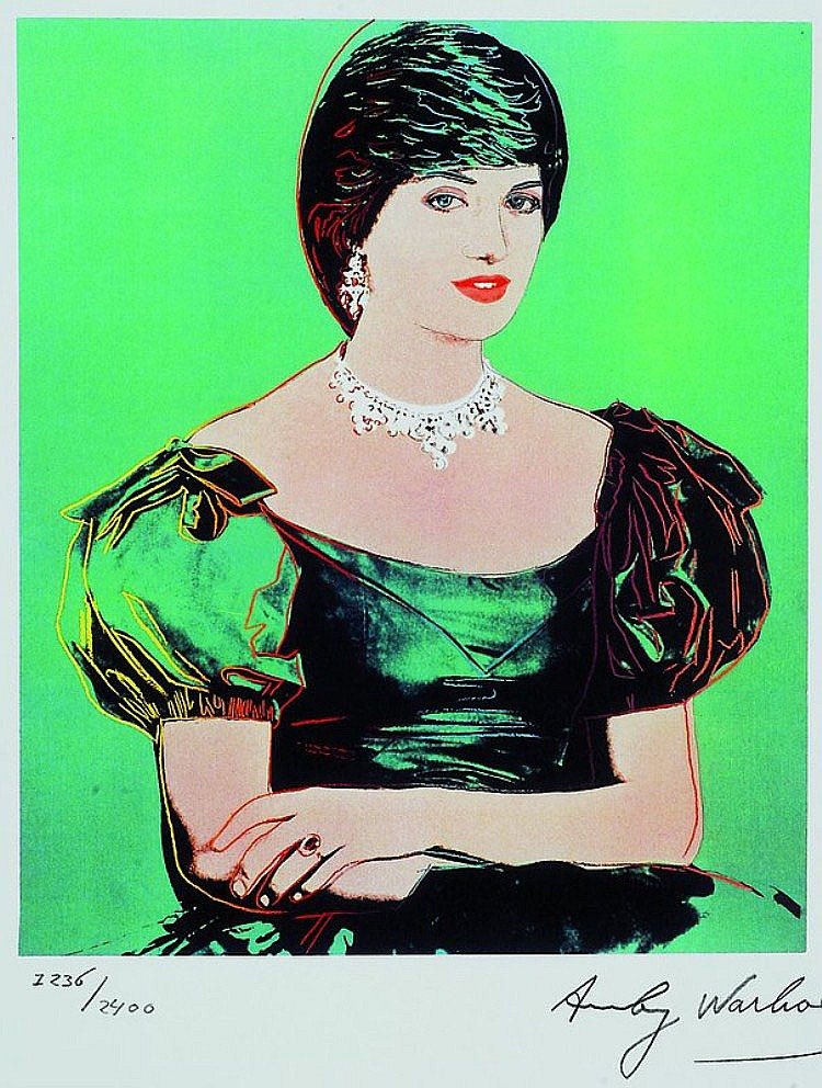 Sold Price Warhol Andy 1928 1987 Lady Di Farbsiebdruck March 6 0113 2 30 Pm Cet