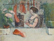 Ludwig Bock, 1886-1971 Munich, the butcher's wife in