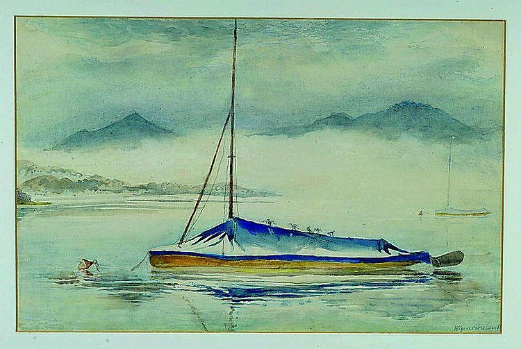 Croissant, Eugen, 1898 Landau - 1976, Segelschiff