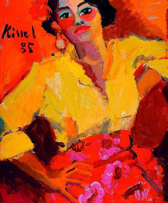Kissel, Gernot, 1939 Worms-2008, Sitzende mit