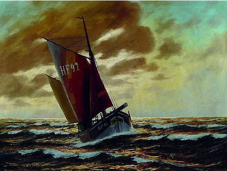 Schaffner, Franz, 1876-1951, Segelschiff in