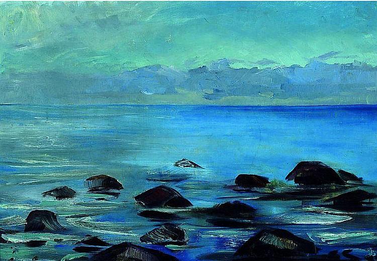 Sprotte, Siegward, 1913-2004, Uferansicht,
