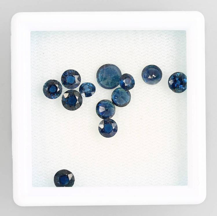 Lot 12 loose sapphires, total approx. 5.10 ct