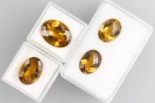 Set with madeira citrines (treated)