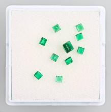 Lot 10 loose emerald squares