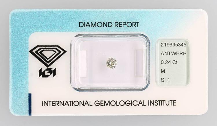Loose brilliant, 0.24 ct