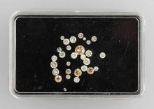 Lot loose brilliants total approx. 1.99 ct