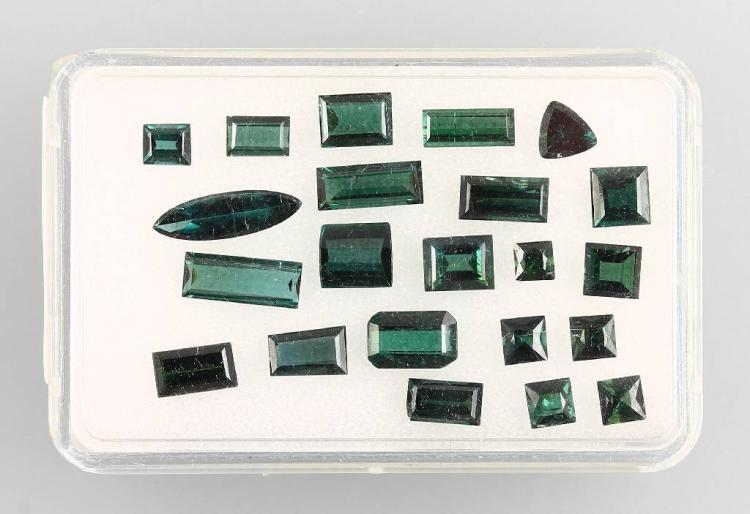 Lot made of bevelled tourmalines