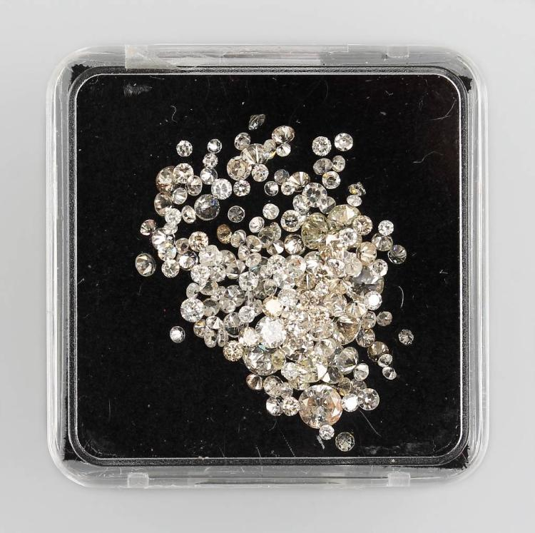 Lot loose brilliants, total approx. 4.152 ct