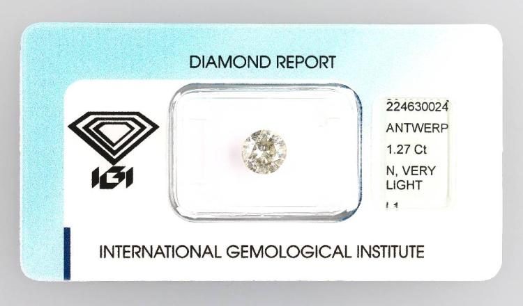 Loose brilliant, 1.27 ct