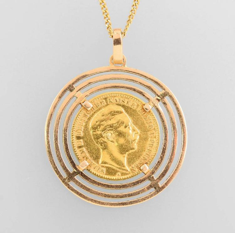 Coin pendant, YG 585/000