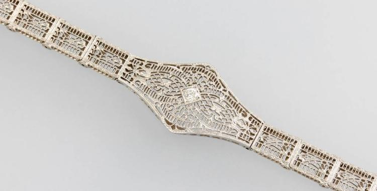 14 kt gold bracelet with diamond