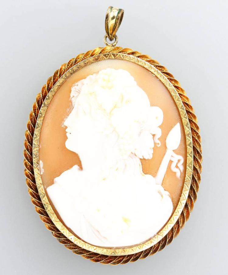 Pendant with cameo, Italy approx. 1890