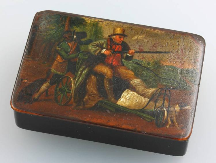 Lacquer/wooden box, approx. 1830s