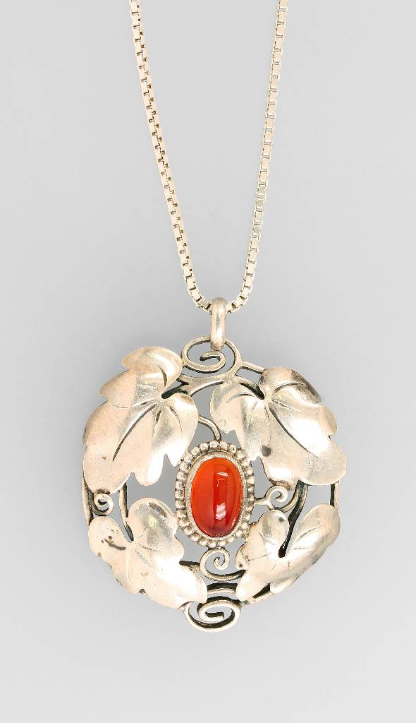Silver pendant with Carneol, Theodor Fahrner approx.1918