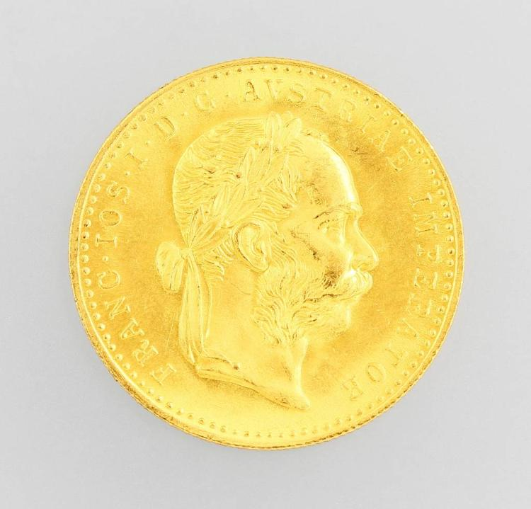 Gold coin, 1 ducat, Austria-Hungary 1915