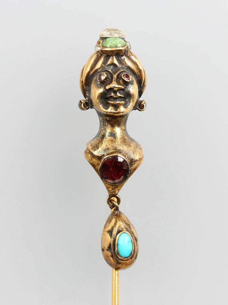 8 kt gold tiepin, german approx. 1880