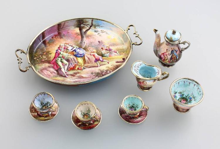 Miniature service, Austria, Vienna, approx. 1880s