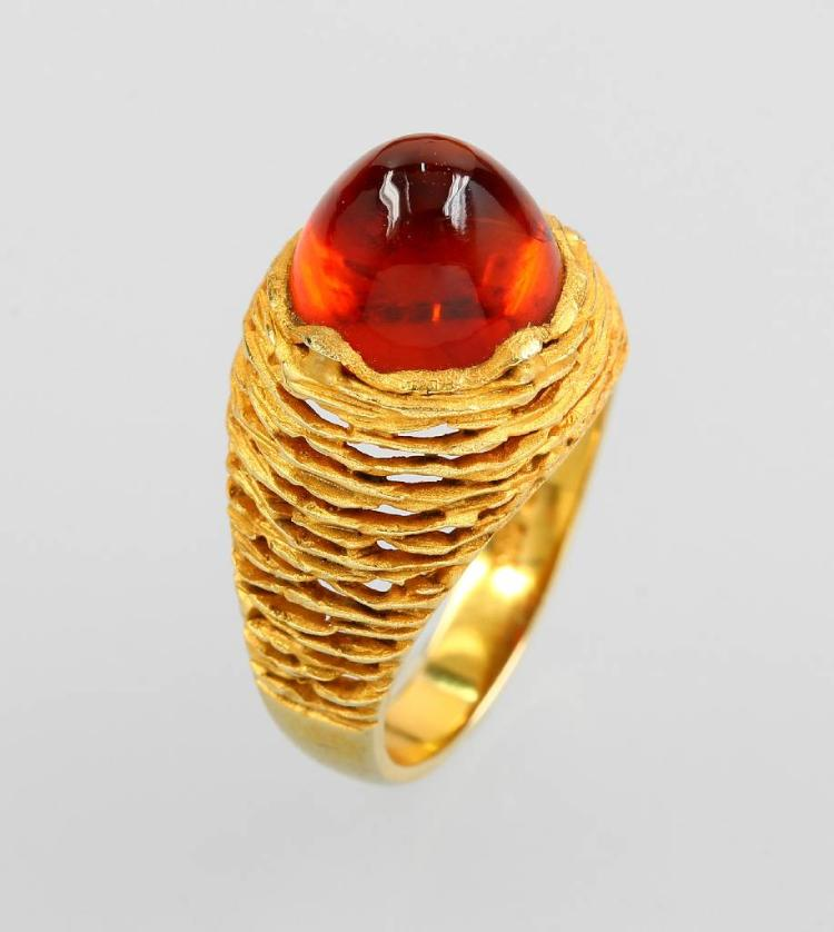 14 kt gold ring with citrine