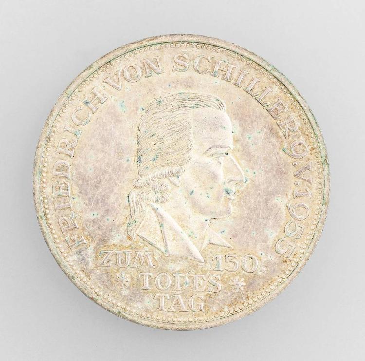 Silver coin, 5 Deutsche Mark, memorial coin