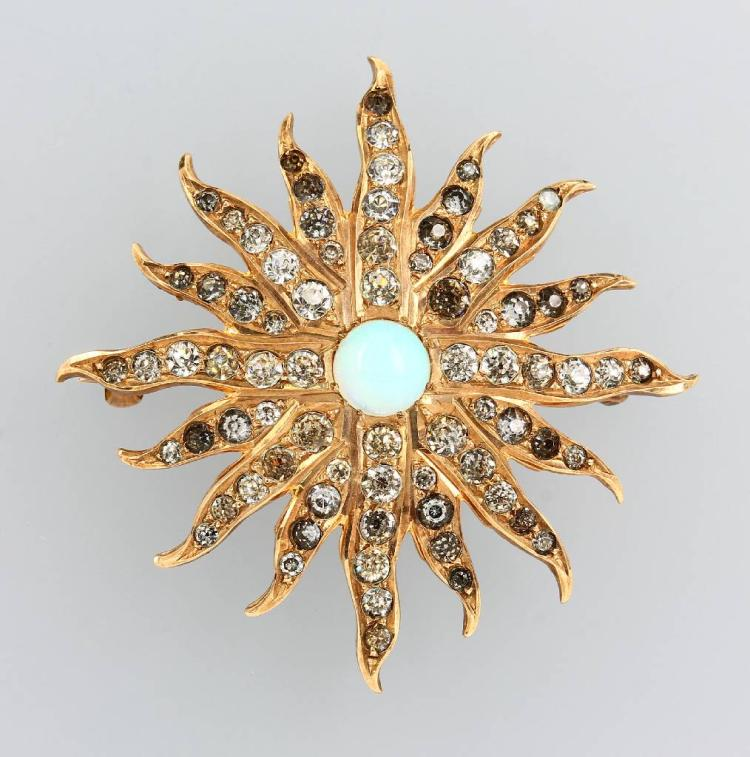 Brooch with rhine stones, France approx. 1860