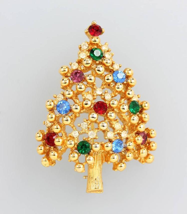 Brooch, christmas tree