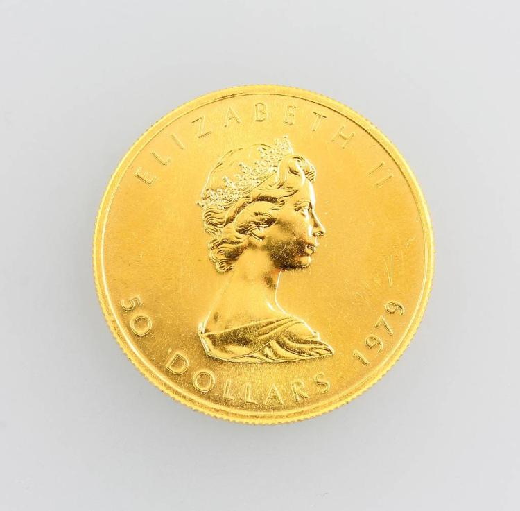 Gold coin, 50 Dollars, Canada, 1979