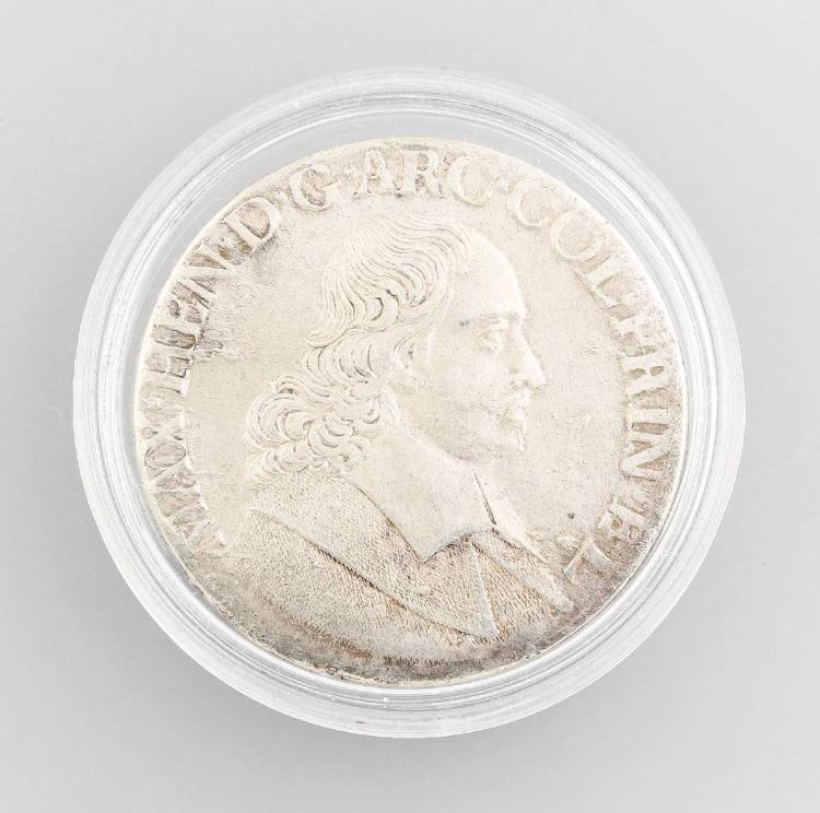 Silver coin, 1 Patagon, Belgium, Maximilian Henry, MAX