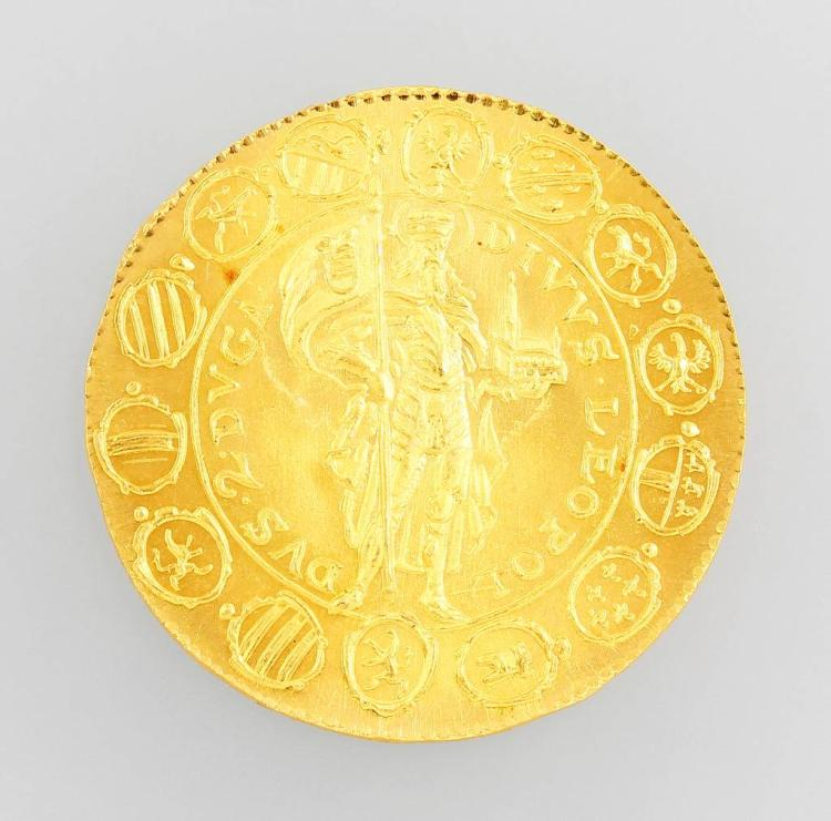 Gold coin Austria 1642, official restrike 1963