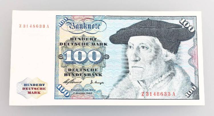 Banknote, 100 Deutsche Mark, Germany, 1960