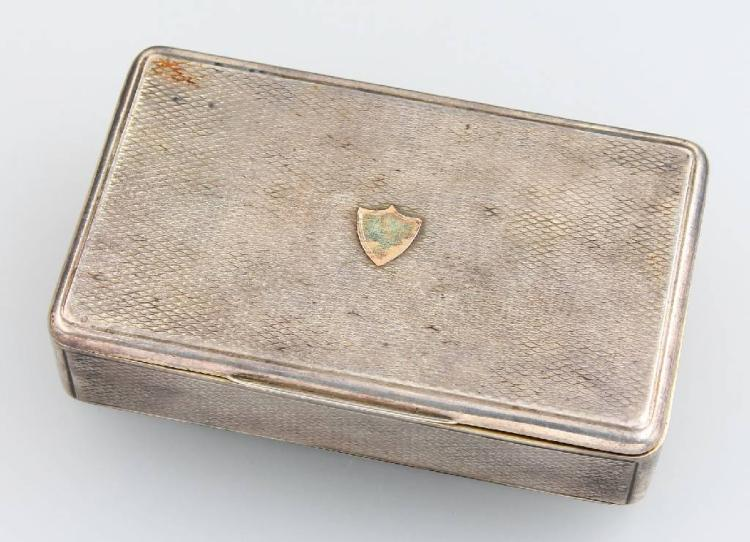 Snuff box, german approx. 1860/70, silver, partly