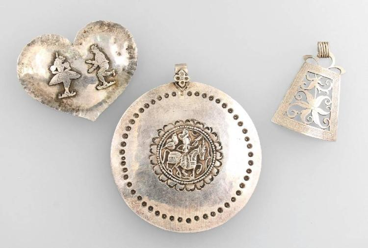 Lot of silver jewelry, south german approx. 1920