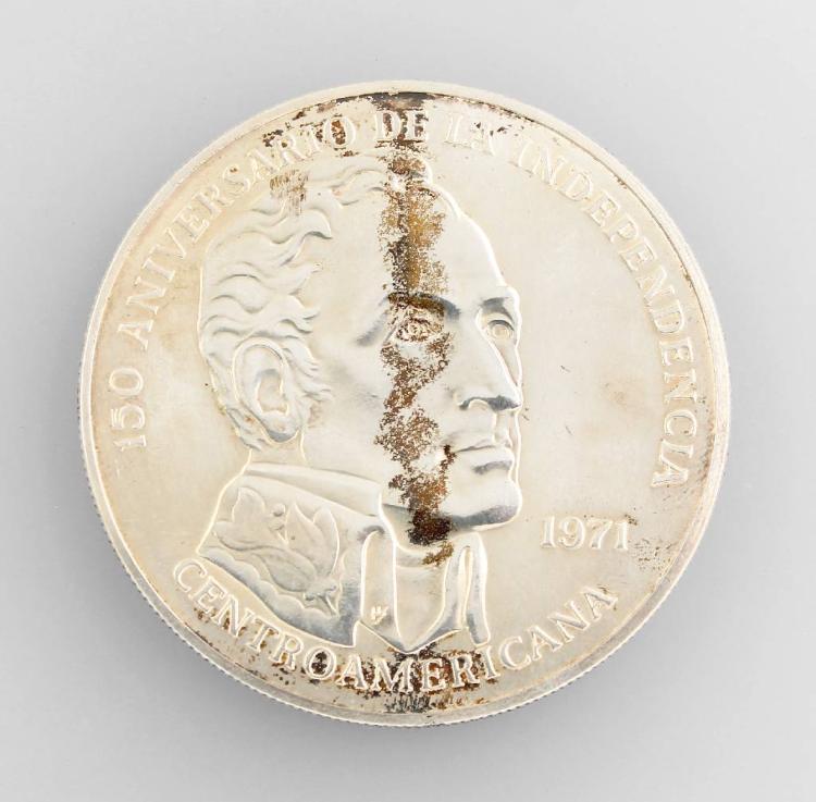 Silver coin, 20 Balboas, 1971, Panama