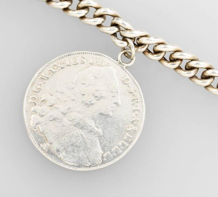 Bracelet with coin, silver 835