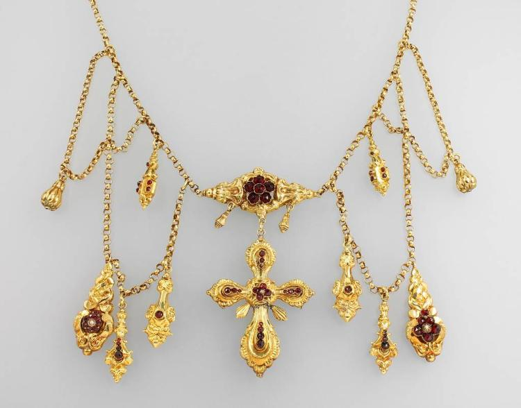 Necklace/neckband, german approx. 1835/45