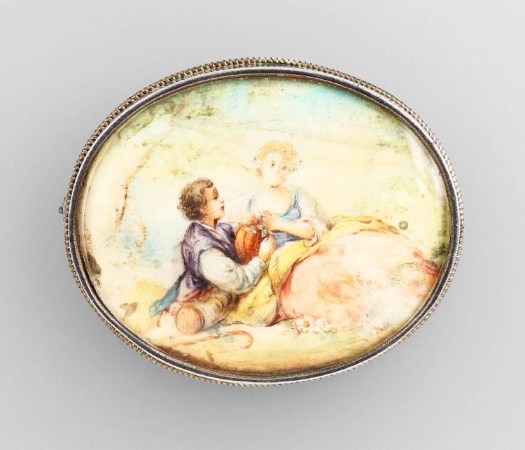 Theodor Fahrner brooch with miniature painting