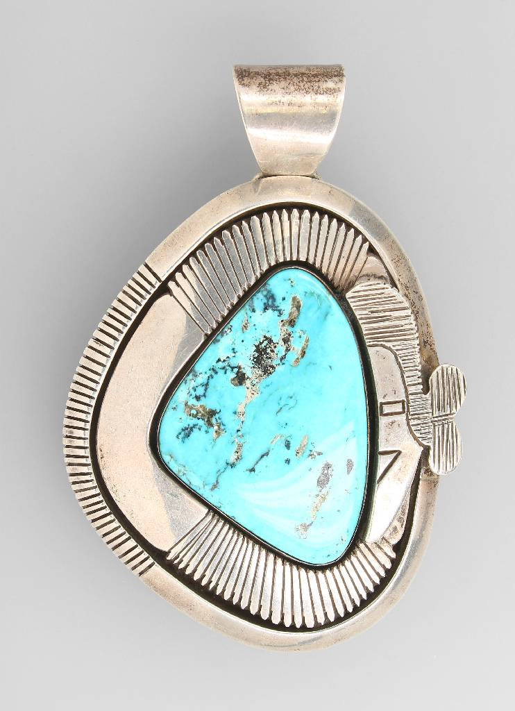 Pendant with turquoise, Nevada 1970s