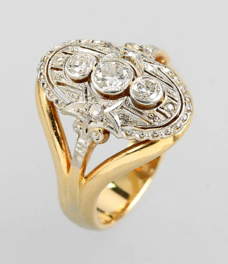 Art-Deco ring with diamonds