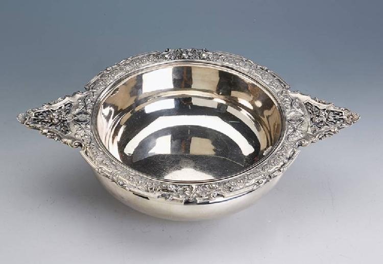 Bowl with inset, France approx. 1900, silver 950