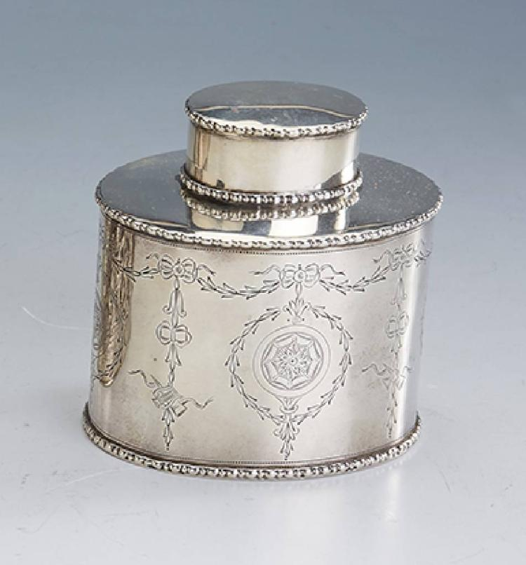 Tea caddy, England, Chester 1908, silver 925