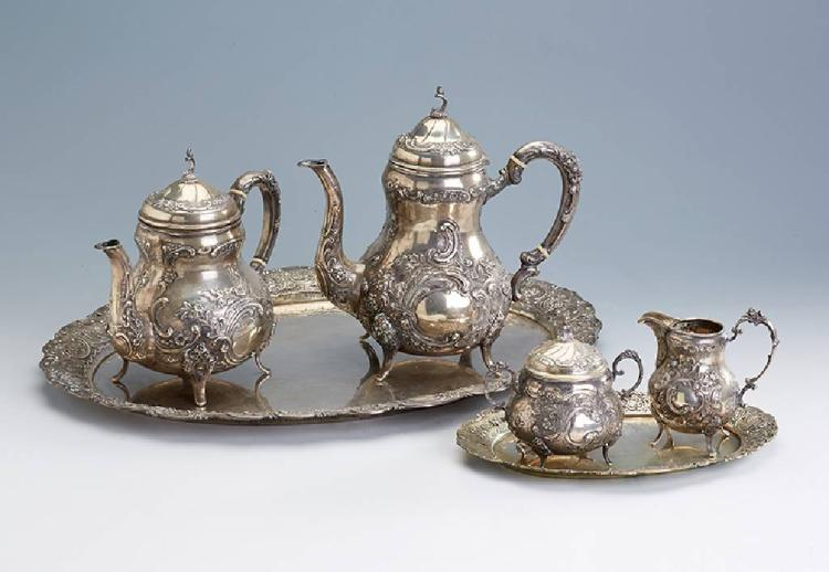 6-piece coffee- and teaset, german, probably Hanau 1930s