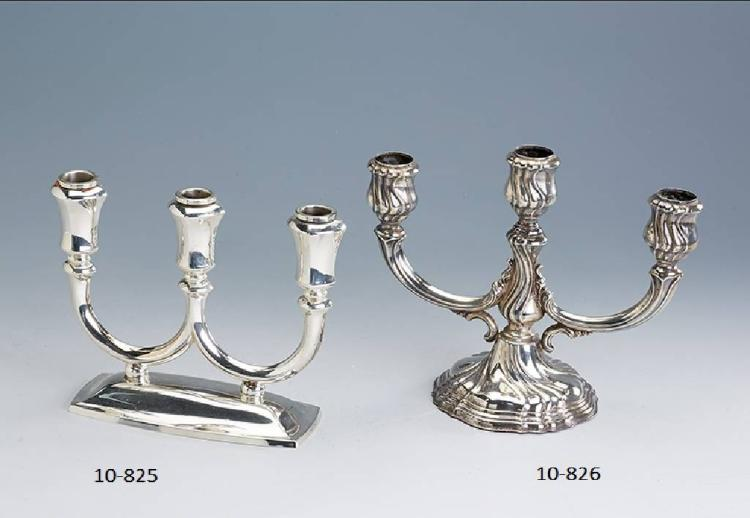 3-flame candleholder, german, silver 925 filled