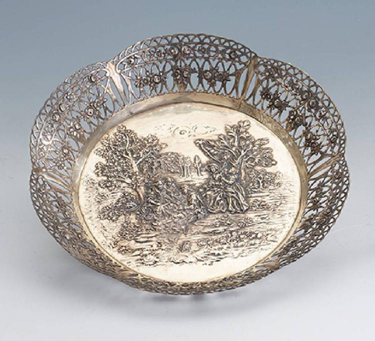 Bowl, german probably Hanau 1930s, 800 silver