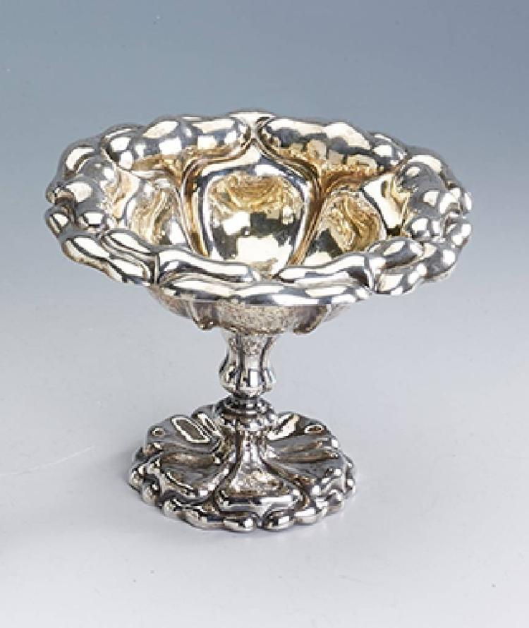 Footed bowl, Prague probably 1852, silver