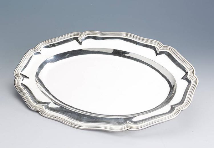 Oval tray, silver 835, Bruckmann & Soehne