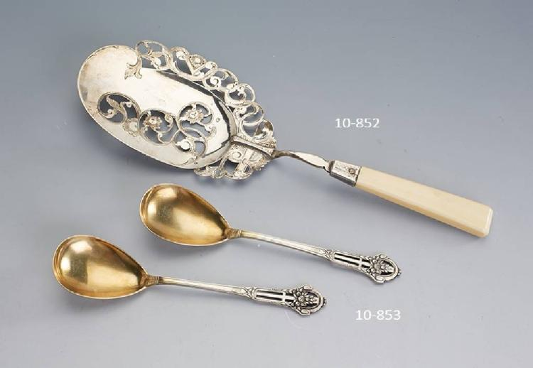 2 serving spoons, Bruckmann & Söhne, german