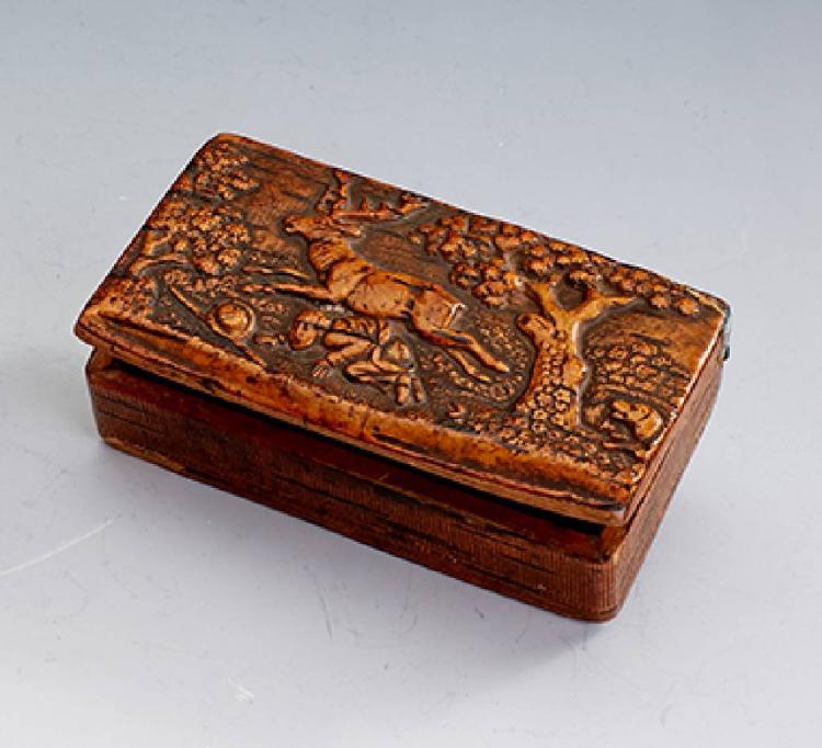Casket made of wood, german approx. 1870